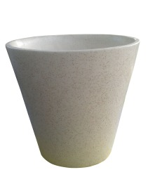 Creamy Pattern Ceramic Pot